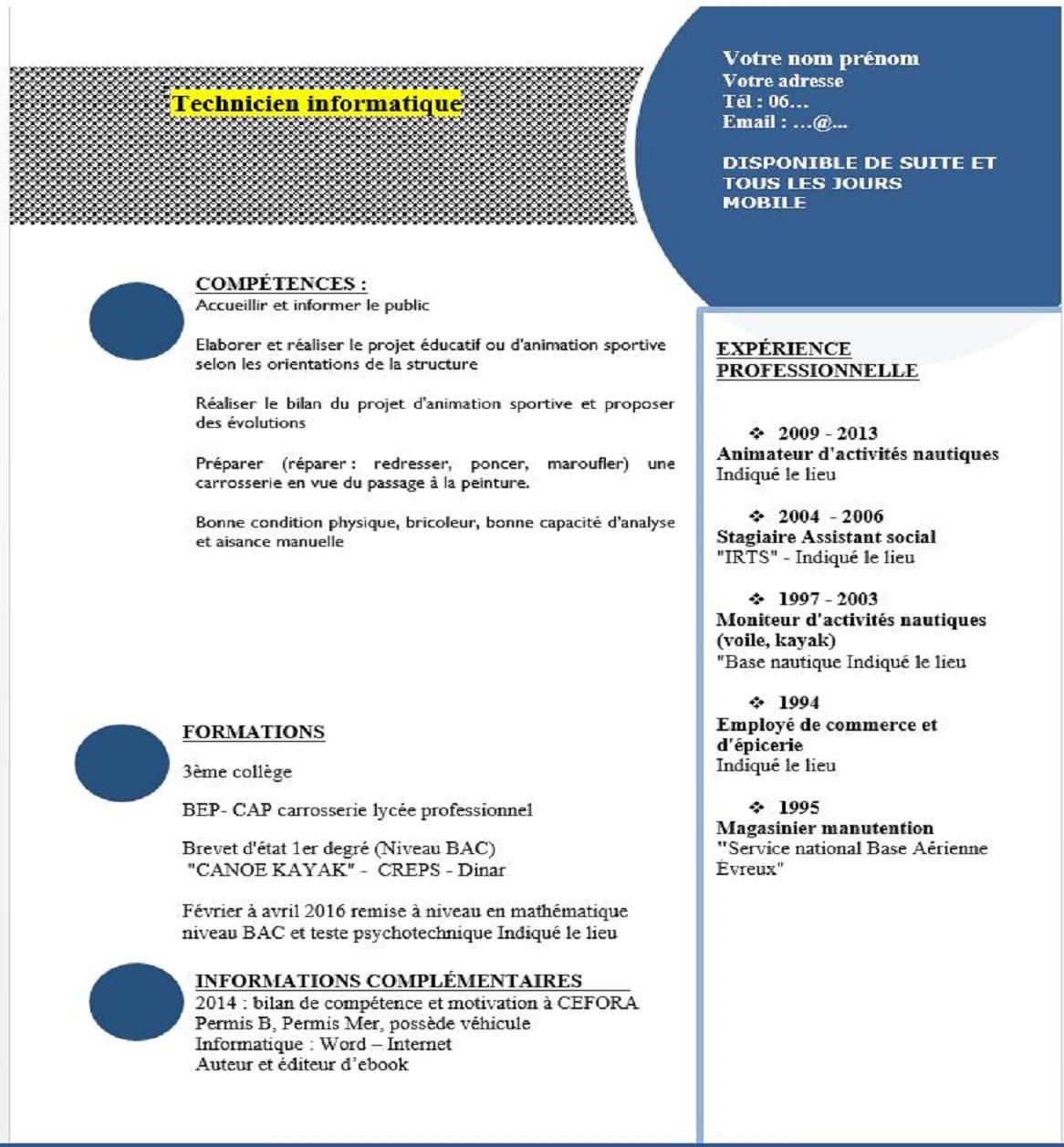 exemple de cv conseiller penitentiaire d u0026 39 insertion et de probation
